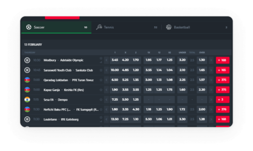 Betting shop software