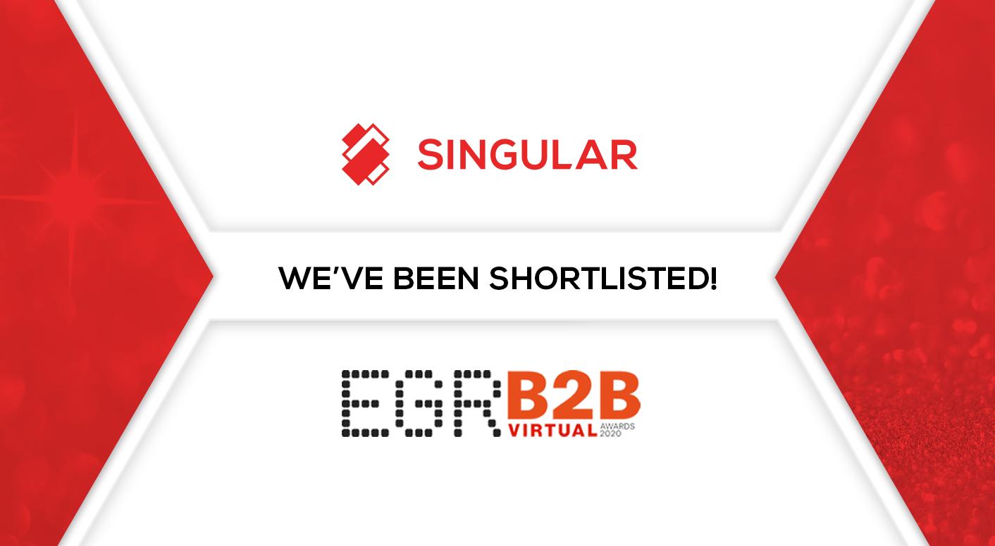 Singular shortlisted in 4 categories at the EGR B2B Awards